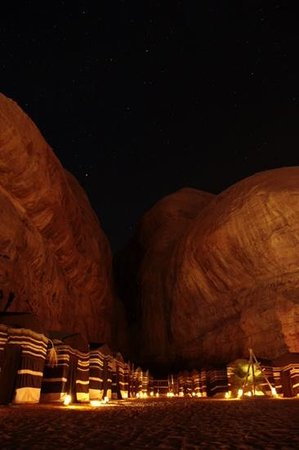 Captain's Desert Camp: La zona tende di notte
