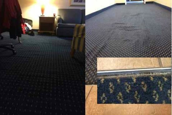 Residence Inn Rochester West/Greece: Poorly installed carpeting throughout the hotel