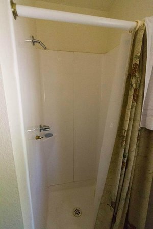 Lassen Mineral Lodge: Shower (older section)