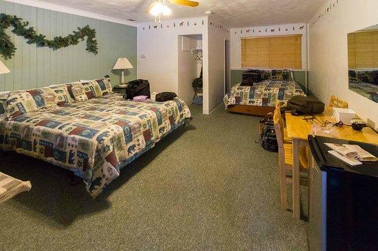 Lassen Mineral Lodge: Sleeping room (Newer Section)