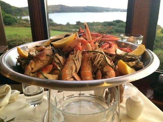 Loch Melfort Hotel and Restaurant: Seafood platter