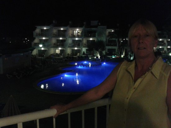 Aparthotel Playas Ca's Saboners: first night we arrived and stepped onto the balcony