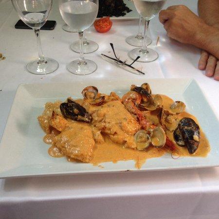 Restaurante Amar : Rape con salsa romesco