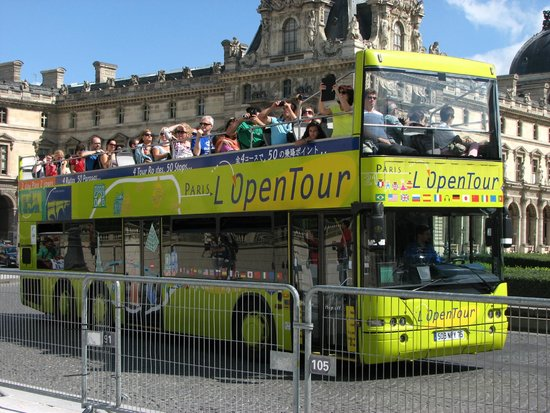 l 39 open tour bus picture of open tour paris paris tripadvisor. Black Bedroom Furniture Sets. Home Design Ideas