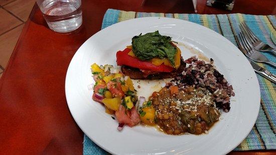 Pritikin Longevity Center & Spa: Yummy layered veggie portabello!