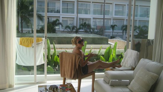 Lanna Samui: Open doors from our room