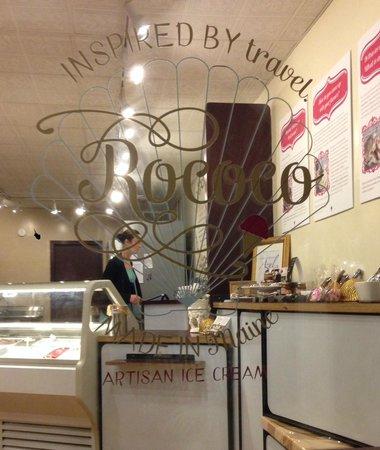Rococo Artisan Ice Cream: Rococo - through the window