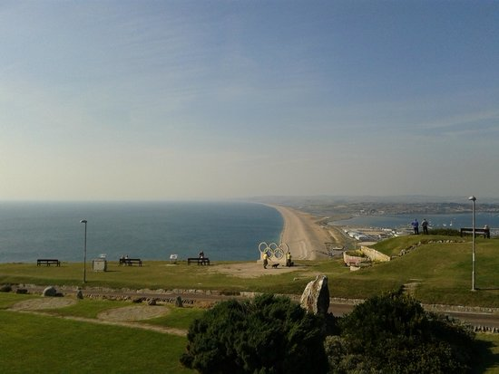 Chesil beach from the Heights Hotel
