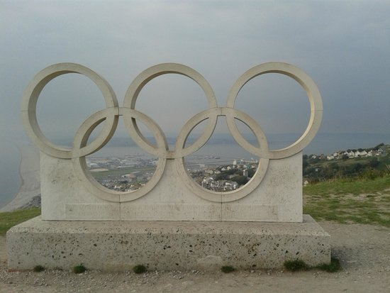 The Olympic Symbol Outside The Heights Hotel Picture Of The