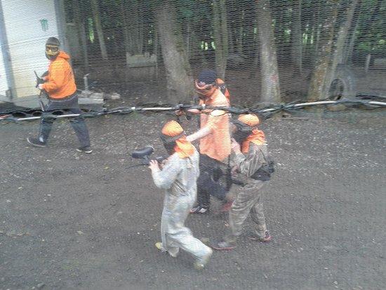 Taskforce Paint Ball Games: Enjoying the day shooting away