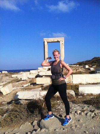 Naxos Town, Greece: During a morning jog it was a very nice stop along the way