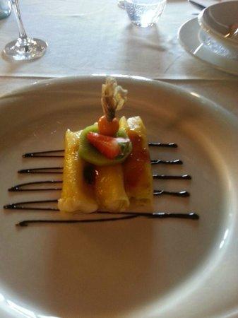 Restaurante Galena Mas Comangau: Canelones de piña