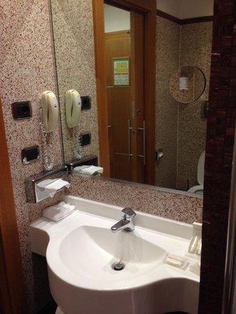 Hilton Garden Inn Rome Claridge: Sink and Telephone