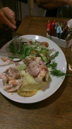 The Blueball Inn: The trout fillets at the blue ball lynmouth.