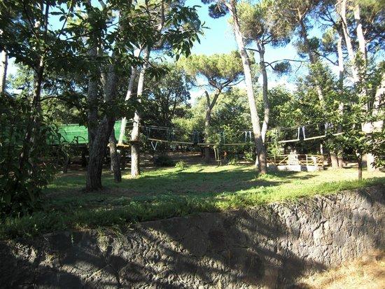 Bono, Itália: Parco avventura ragazzi adiacente la casa forestale