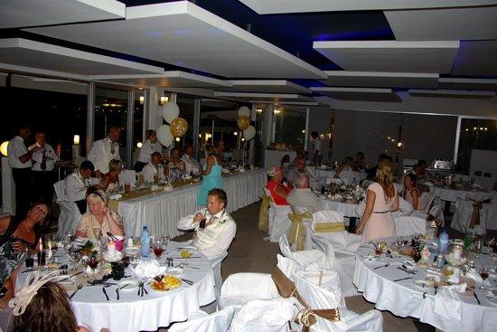 Pernera Beach Hotel: Reception at the thalassa restaurant