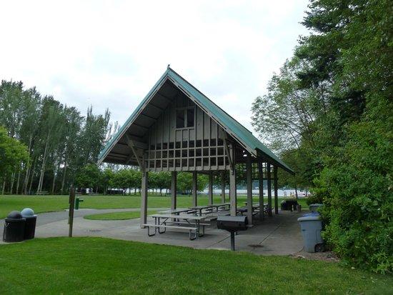 Newcastle Beach Park : Reservable picnic shelter