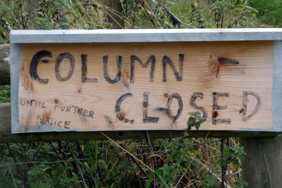 Marquess of Anglesey's Column: COLUMN CLOSED UNTIL FURTHER NOTICE