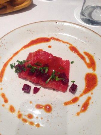 Bahía Taberna: Red salmon with kimchi