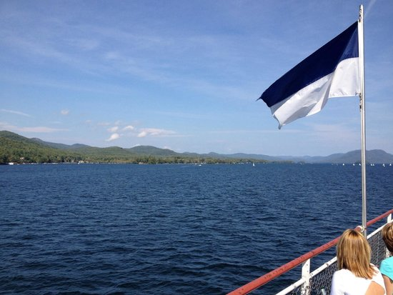 Lake George Steamboat Co. : View from the steam boat.