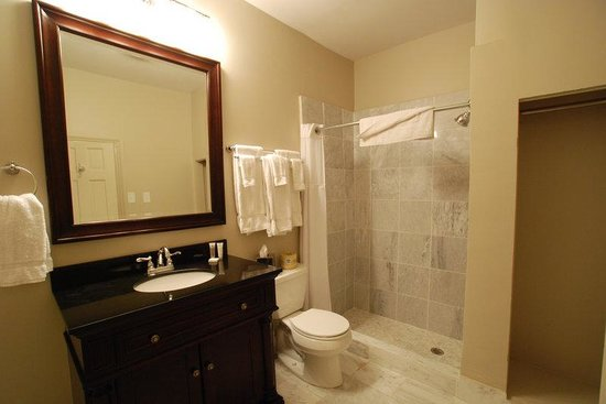 Inn on St. Peter : White Carrera Marble Bathrooms