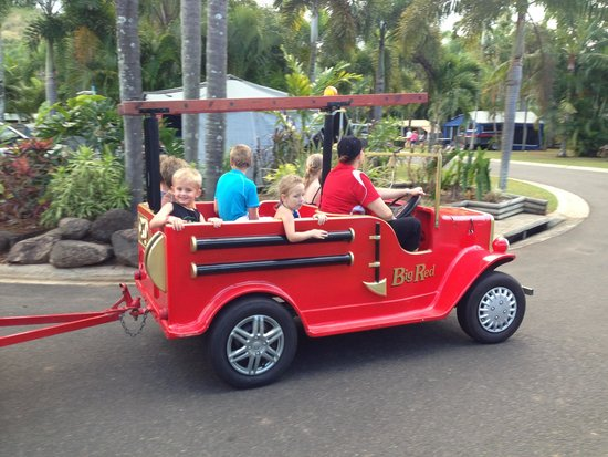 Cairns Coconut Holiday Resort: Train ride anyone?