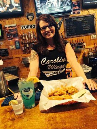 Carolina Wings & Ribhouse: Shilo behind the bar