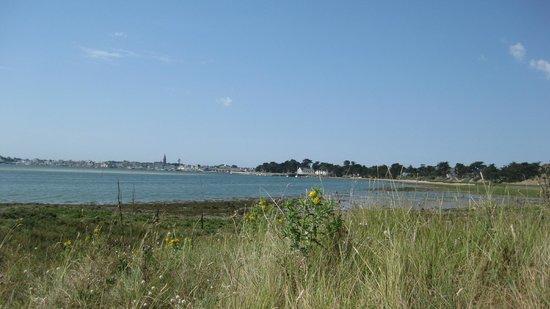 Hotel de Pen Bron : vue sur l'hôtel depuis la baie de Guérande