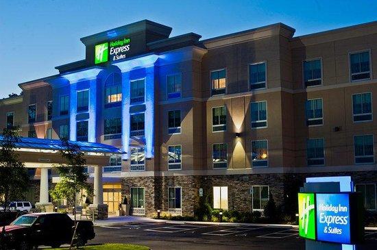 Holiday Inn Express Hotel Suites Columbus Easton Exterior Twilight