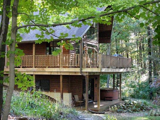 Nature's Pointe Cabins: Laurel Ridge Cabin side view