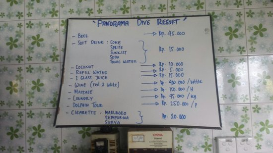Panorama Diving Resort: Prices
