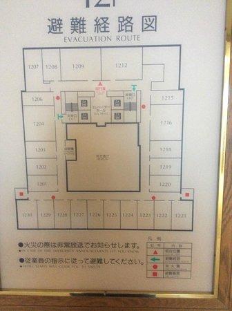 HOTEL MYSTAYS Sapporo Aspen: 樓層房間配置圖