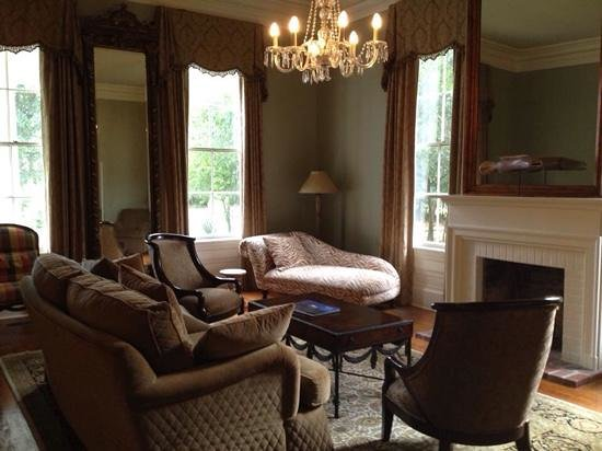 Clark House: one of the livingrooms in the house