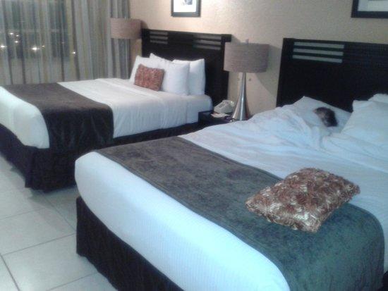Ramada Plaza Marco Polo Beach Resort: dos camas king muy comodas
