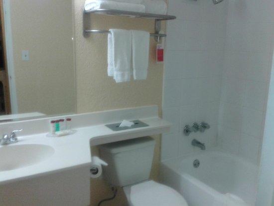 Ramada Plaza Marco Polo Beach Resort: Sector del baño hecho a nuevo ,buena ducha