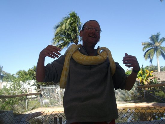 Everglades Rentals & Eco Adventures : holding a snake