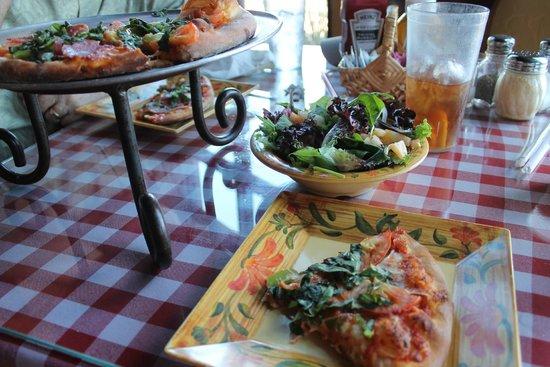 Italian Peasant: Pizza and side salad