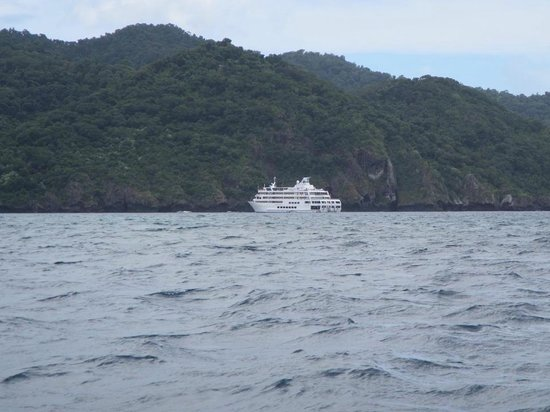 Captain Cook Cruises - Fiji Day & Dinner Cruises : the mother ship at Rabi.