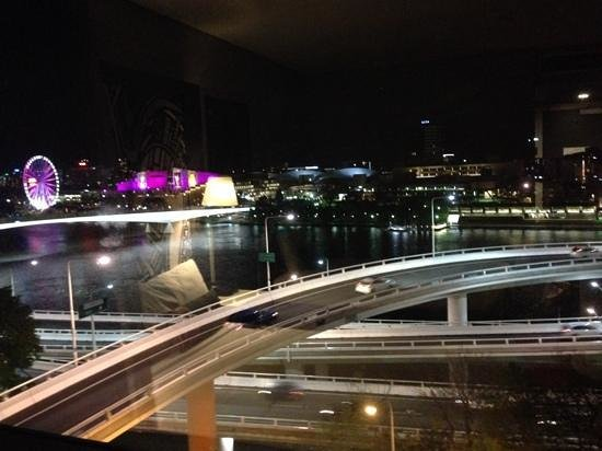 Mercure Brisbane: View from room by night