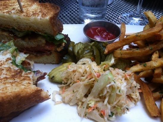 B & G Oysters : the CBLT - posh junk sandwich