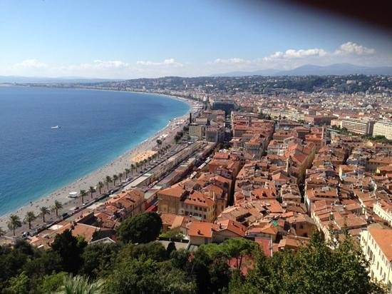 Hotel Aston La Scala: view of Nice from the old fort