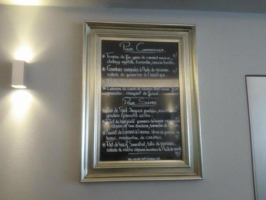 Le 4: la carte des menus
