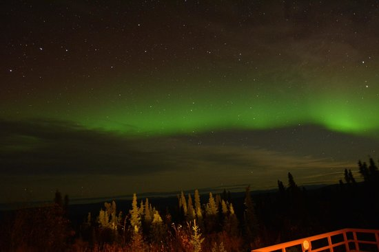 Aurora Borealis Lodge: View from our deck on the first night
