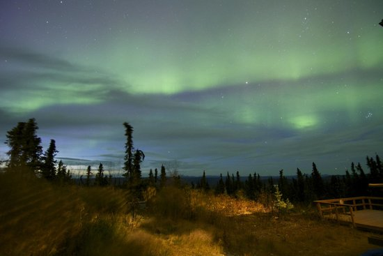 Aurora Borealis Lodge: The second night about 10pm