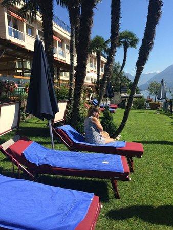 Swiss Diamond Hotel Lugano: пляж