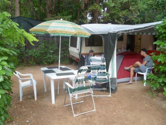 Camping Arc en Ciel: Notre campement