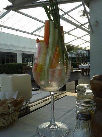 DaVinci Restaurant Nai Harn: vegetables in a glass