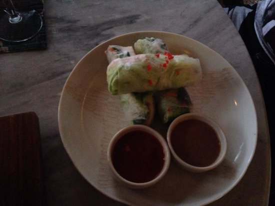 The Elephant Restaurant & Bar: Rice paper rolls - light and delicious!