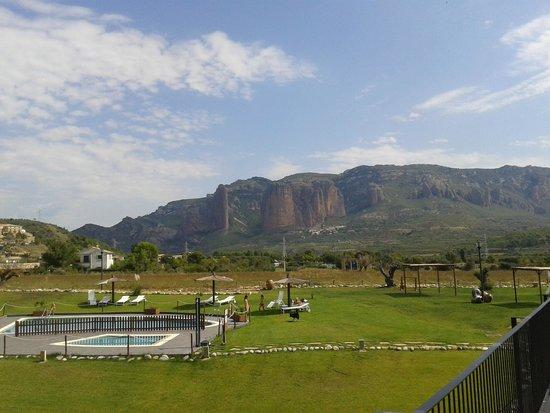 Hotel Spa Aguas de los Mallos: vista de desde la habitación