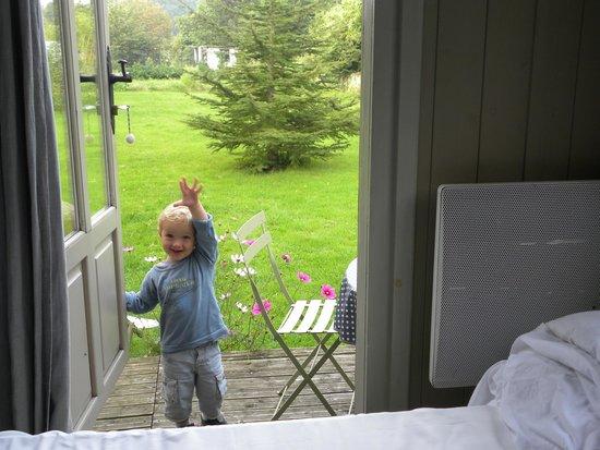 Le Mas Normand: Vue sur le jardin